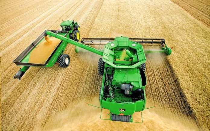 Розвантаження зерна на ходу