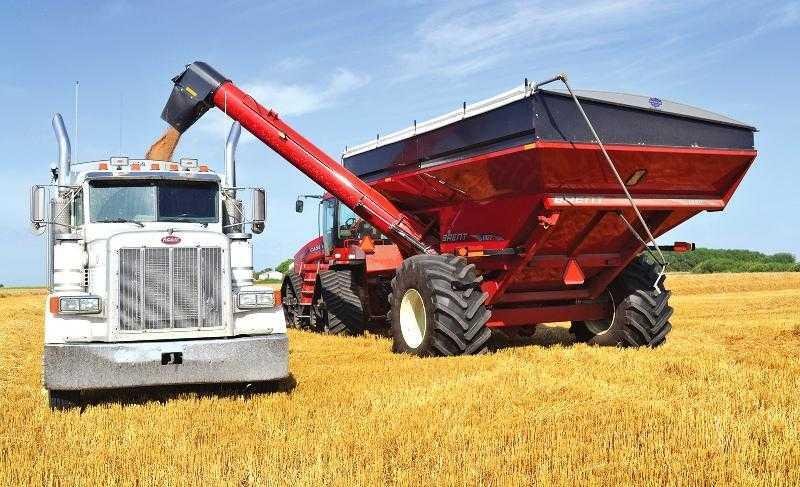 Розвантаження зерна